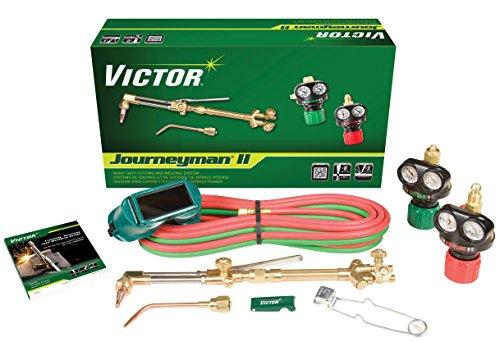 Victor Technologies 0384-2041 Journeyman II Heavy Duty Cutting System, Acetylene Gas Service, ESS4-15-510 Fuel Gas Regulator by ESAB