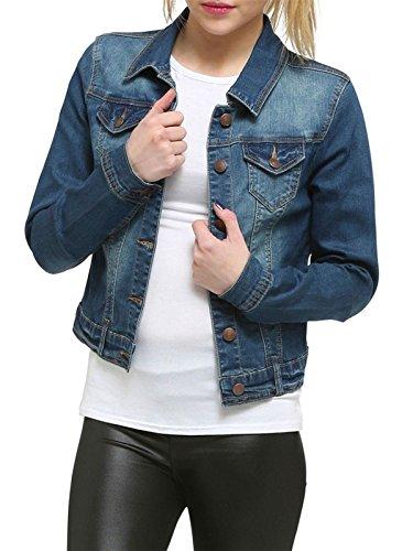 Femme Denim Shelikes Taille Unique Blouson xTFWfq7A
