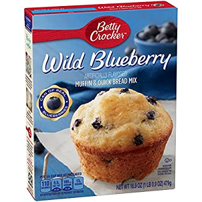 Betty Crocker Muffin & Quick Bread Mix Wild Blueberry 16.9 oz Box from General Mills