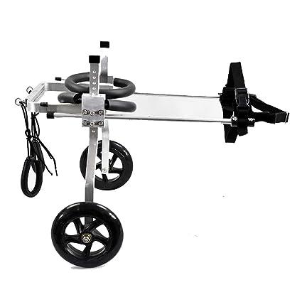 AnnCWLY Scooter Auxiliar de Entrenamiento de tamaño Ajustable para Silla de Ruedas para Mascotas, Modelo