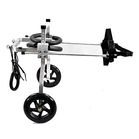 Silla de ruedas para mascotas Scooter auxiliar de entrenamiento de tamaño ajustable para silla de ruedas