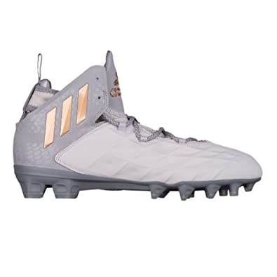 2c128e9c5b4 adidas Freak Lax Mid Cleat - Unisex Lacrosse 10 Grey Copper Metallic Dark  Grey