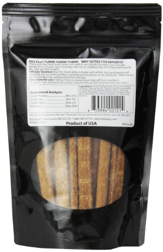 Image of Etta Says Roasted Duck Jerky Meat Treats 100-Percent All Natural Duck Meat Treat, 7 Ounces