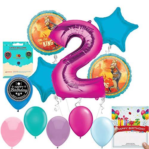 Lion King Party Supplies Girls 2nd Birthday Balloon Kit -