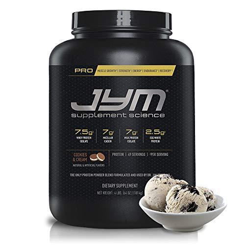 Pro JYM Protein Powder – Egg White, Milk, Whey Protein Isolates & Micellar Casein | JYM Supplement Science | Cookies & Cream Flavor, 4 lb