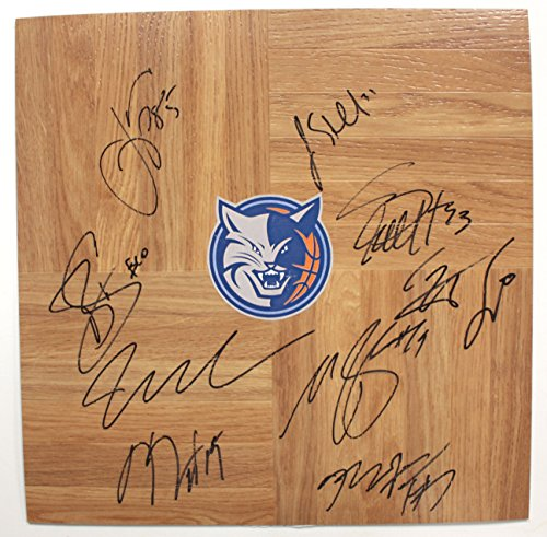 Signed Basketball Team (Charlotte Bobcats 2013-14 Team Signed Autographed Basketball Floorboard Kemba Walker Michael Kidd-Gilchrist)