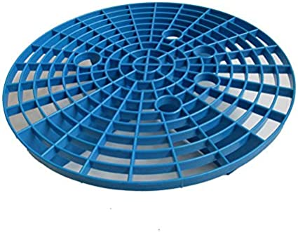 Car Wash Grit Guard Sand Stone Isolation Net Insert Washboard Water Bucket Scratch Dirt Filter Car Cleaning Tool 23.5cm-Blue