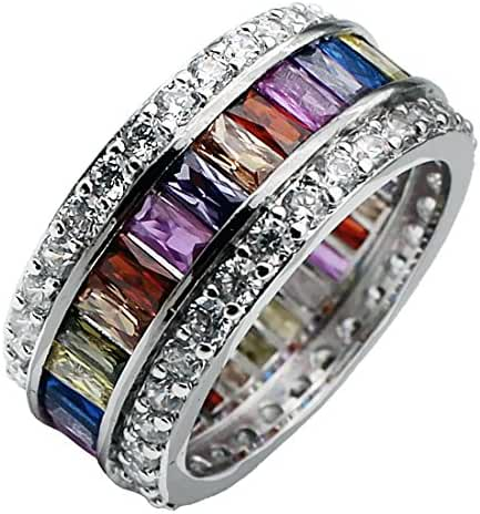 HERMOSA Morganite Topaz Garnet Amethyst Ruby Aquamarine 925 Sterling Silver Ring