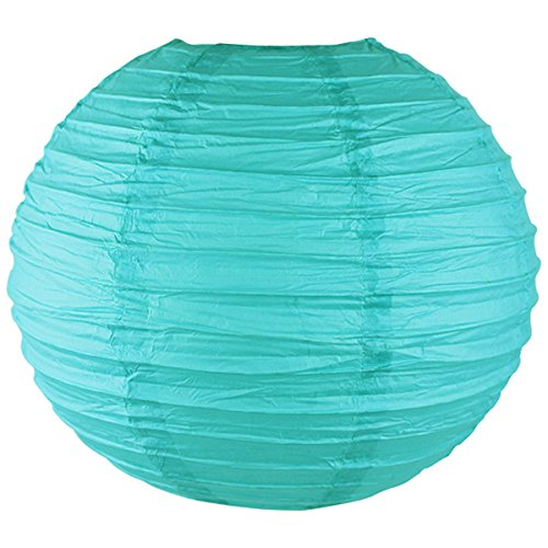 Just-Artifacts-16-Turquoise-Blue-ChineseJapanese-Paper-LanternLamp-16-Diameter-Just-Artifacts-Brand