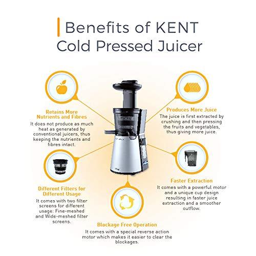 KENT Cold Pressed Juicer (Black)