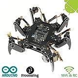 Freenove Hexapod Robot Kit | Arduino Based Project | Raspberry Pi | Spider Walking Crawling 6 Legged | Detailed Tutorial | Android APP | Wi-Fi Wireless RC 2.4G Servo
