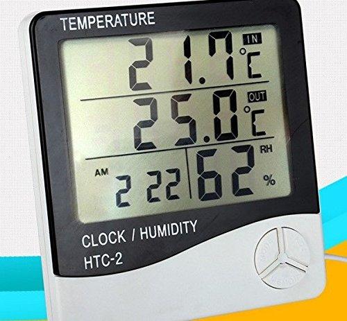 FidgetFidget Thermometer clock LCD digital display Hygrometer humidity out/indoor meter gauge by FidgetFidget