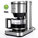 120 cup coffee maker - BESTEK 10 Cup Drip Coffee Maker in Stainless Steel, Programmable and Aroma Control, with Permanent Filter