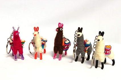 Amazon.com: Llavero en miniatura de Llamas Alpaca, llavero ...