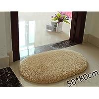 Pertique Non-slip Bath Rug Microfiber High Absorbent Soft Bath Mat,Beige