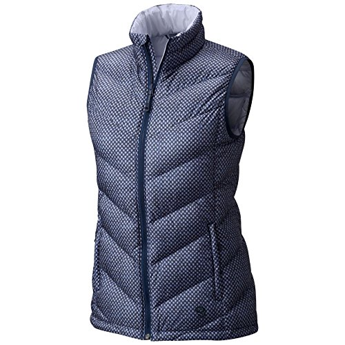 Mountain Hardwear Women's Ratio Down Vest Zinc Print Medium by Mountain Hardwear