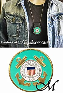 Mayflower CNF Coin &Leather Holder - U.S. Coast Guard Most Urgent Challenge Coin, Rare - Salute to Our Heroes from Mayflower CNF