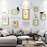 ALUS- 8 Multi Photo Frames Set Modern Simple Style Bedroom Restaurant Wall Photo Picture Wall Frame ( Color : #3 )