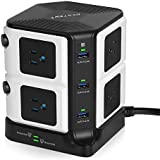 BESTEK USB Power Strip 8-Outlet Surge Protector 1500 Joules with 40W/8A 6 USB Charging Station,ETL Listed,Dorm Room Accessories