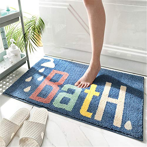 THRILRUG Bathroom Rug mat, Non-Slip Soft Microfiber Washable Water Absorbent Colourful Cute Bath mats Rugs Set for Bathroom,Kids,Indoor, tub and Shower