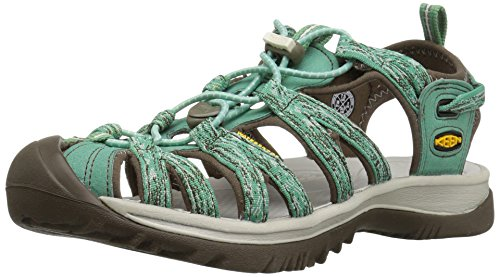 KEEN Women's Whisper Sandal,Malachite/Silver Birch,9 M US