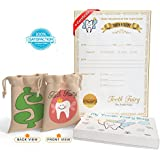 Tooth Fairy Bag Kit for Boys and Girls – Pouch to Leave...