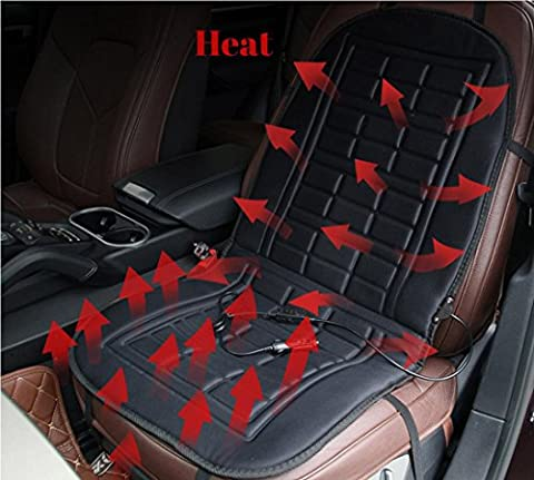 Ceazy Car Heated Seat Cushion Cover Auto 12V Heating Heater Warmer Pad Winter