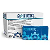 GLOVEWORKS Industrial White Latex Gloves - 4 mil, Powdered, Textured, Disposable, Medium, TL44100, Case of 1000