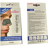 Cameleon Deep cleansing Charcoal nose strips for Men (6 strips)