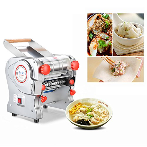 JIAN YA NA 110V 750W Electric Pasta Press Maker Noodle Machine Dumpling Skin Home Commercial