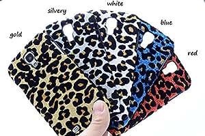 For Samsung Galaxy S4 S Iv I9500 Case Bling Shiny Leopard Dot Rigid Plastic Hard Cover Skin Protector White-white
