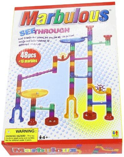 Marbulous-Translucent Marble Run (48 pieces plus 16 marbles)
