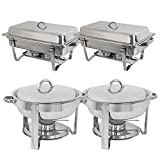 ZENY Chafing Dish Full Size Stainless Steel Chafer Too Set (Combo)