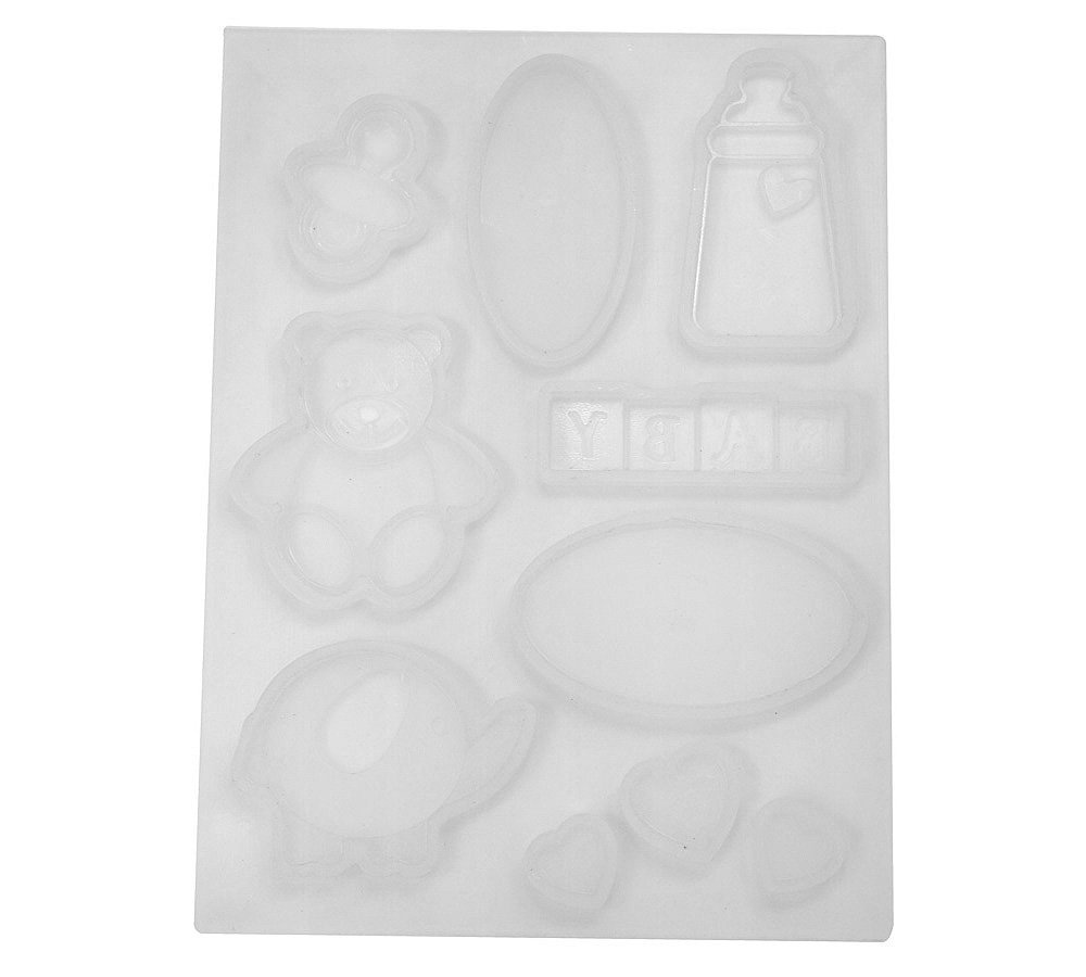 Martellato 30SMTP04 Silicone Chocolate Mold, Baby Themes