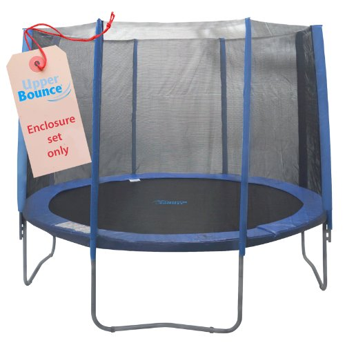 8-Pole-Trampoline-Enclosure-Set-to-fit-10-FT-Trampoline-Frames-with-set-of-4-or-8-W-Shaped-Legs-Trampoline-Not-Included