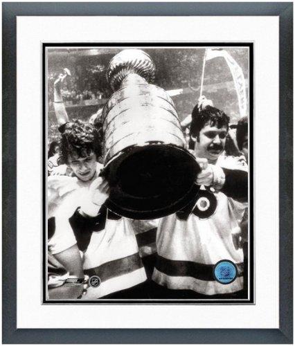 "NHL Bobby Clarke Bernie Parent Philadelphia Flyers Stanley Cup Photo (Size: 12.5"" x 15.5"") Framed"