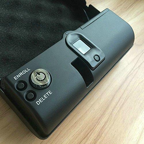 outlet Portable Pistol Safe Case with Biometric Fingerprint Lock Gun ...