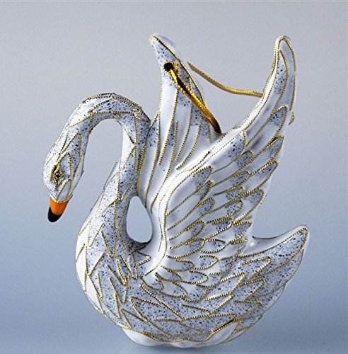 Exquisite Cloisonné white swan Christmas tree - Tree Christmas Cloisonne