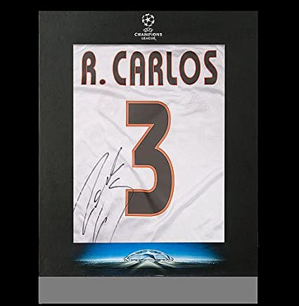 33ec5a2ca Roberto Carlos Official UEFA Champions League Back Autographed Signed Real  Madrid 2004-05 Home Shirt