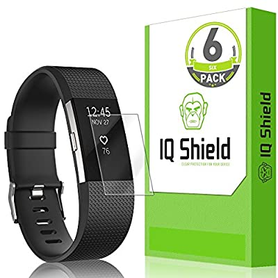Fitbit Charge 2 Screen Protector (6-Pack), IQ Shield LiQuidSkin Full Coverage Screen Protector for Fitbit Charge 2 HD Clear Anti-Bubble Film by IQ Shield