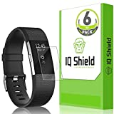 Fitbit Charge 2 Screen Protector (6-Pack), IQ Shield LiQuidSkin Full Coverage Screen Protector for Fitbit Charge 2 HD Clear Anti-Bubble Film