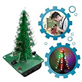 IS ICStation DIY 3D Xmas Tree Soldering Practice Electronic Science Assemble Kit 7 Color Flashing LED PCB Solder Tool