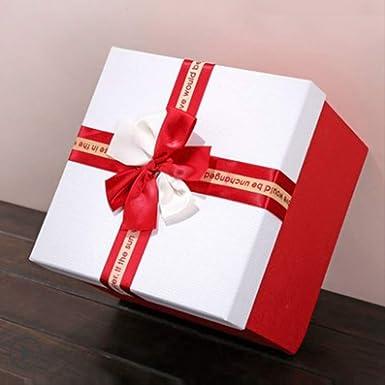 Caja de regalo cuadrada Grande con mano Embalaje de cumpleaños ...