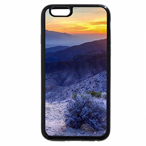 iPhone 6S Case, iPhone 6 Case (Black & White) - beautiful sunset over high desert valley