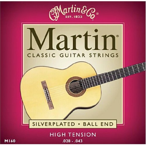 Martin M160 Silverplated Ball End High Tension Classic Guitar -