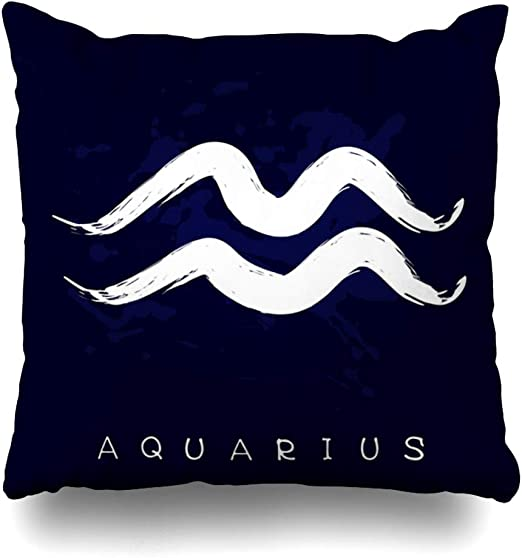 pillow cases Aquarius Zodiac Symbol cushion cover pillowcase US SELLER
