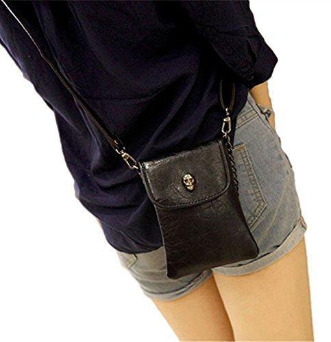 Woman Purse Skull Casual Satchel Pockets Cellphone//Money//Card Storage Bag