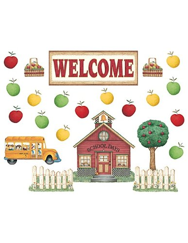 Teacher Created Resources Schoolhouse Welcome Bulletin Board by Debbie Mumm (4546)
