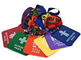 Hall Pass Lanyards Set of 6 Colorful School Passes for Students & Kids, by 4E's Novelty