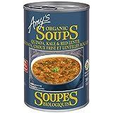 Amys Organic Quinoa, Kale & Red Lentil Soup, 398ml (Pack of 12)